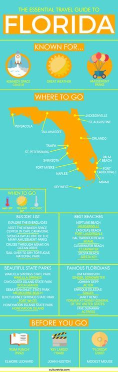 The Ultimate Travel Guide to Florida (Infographic)