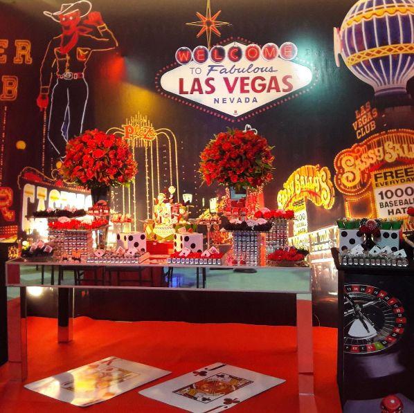 Festa tema las vegas casino