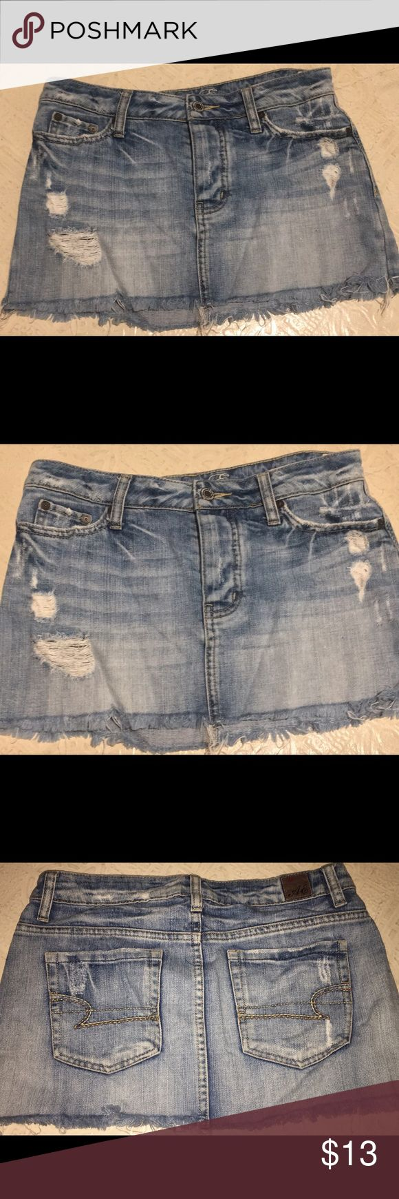 American Eagle Jean Skirt American Eagle Outfitters Jean Skirt! Perfect condition! Worn a few times but no damage whatsoever. American Eagle Outfitters Skirts