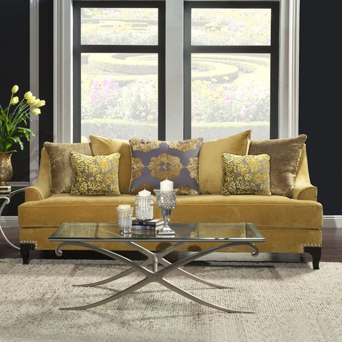 Charlene Sofa in Light Gold - Enhance Your Home on Joss & Main