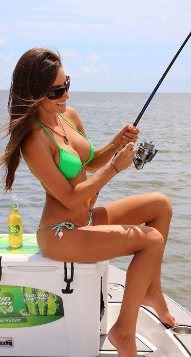 90 best fantastic fishing images on pinterest nature for Women fishing in bikinis