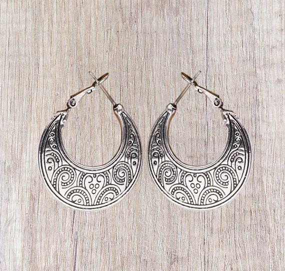 Simple hoop earrings - Vintage style