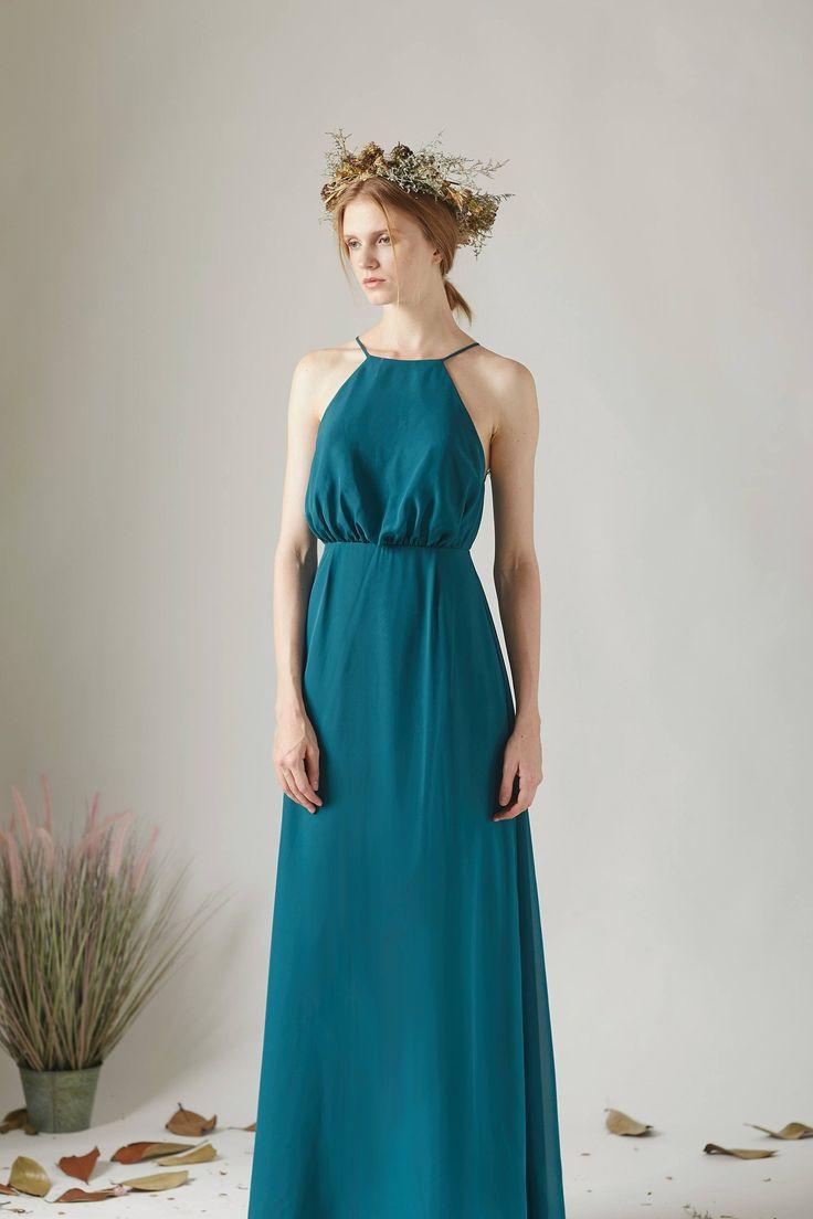 Lace Illusion Jewel Neck Sleeveless Open Back Long Bridesmaid Dress – JoJoBride #prom #party #dance #dancewear #girl