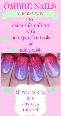 Easy way to make ombre nails tutorial
