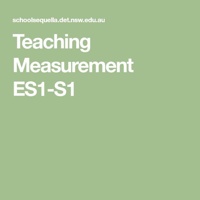 Teaching Measurement ES1-S1
