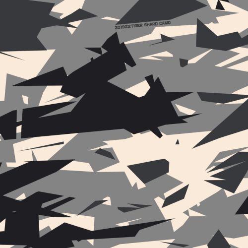 TIGERSHARD CAMO BASED ON TOBY SHORIN'S SWATCH SELECTION TAKEN FROM A PHOTOGRAPH OF BW-TIGERSHARD