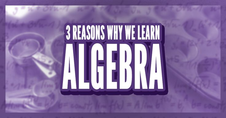 If you want to have the opportunity to be successful, then mastering and understanding algebra is essential.