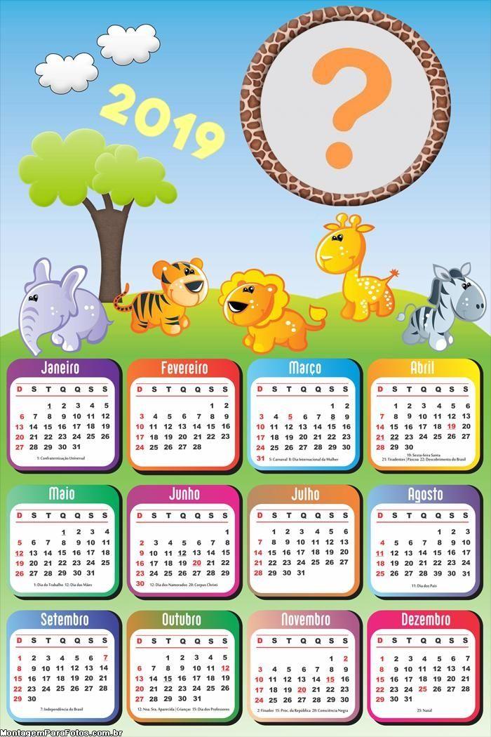 Calendarios 2019 Para Ninos Para Descargar E Imprimir Informacion Imagenes Calendario Para Ninos Imprimir Sobres Agenda Infantil