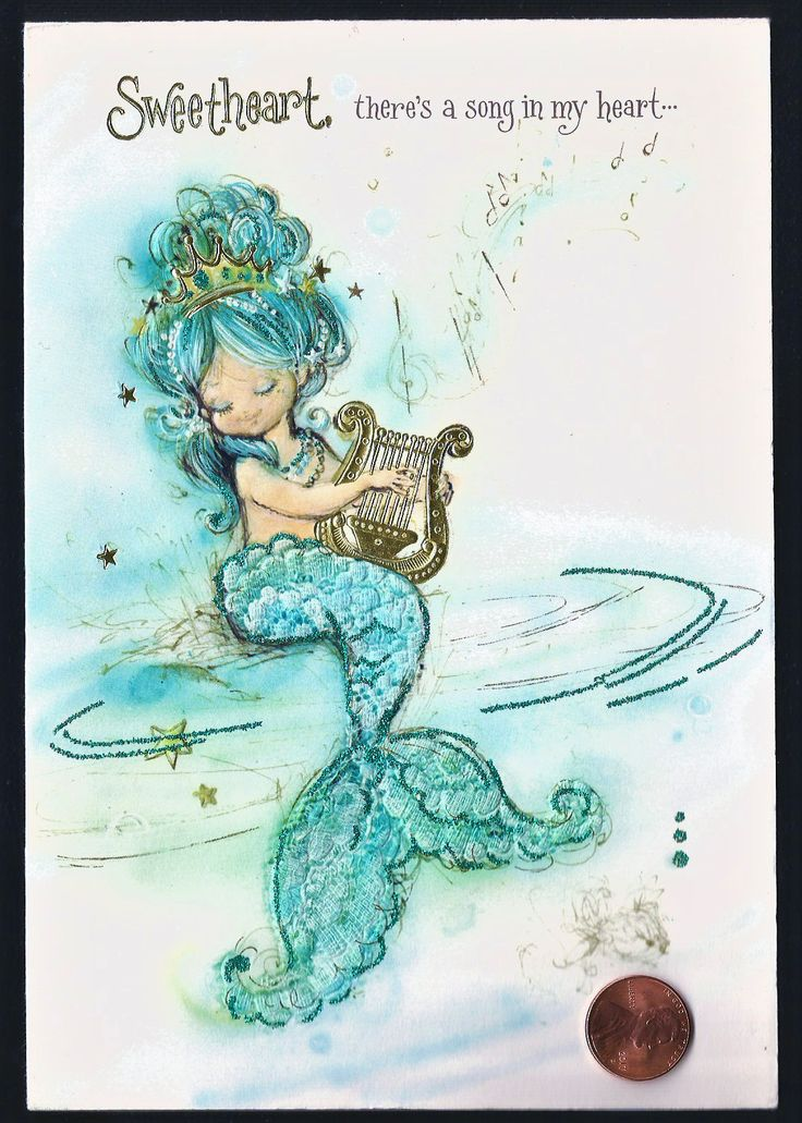 HTF VINTAGE Blue Mermaid Girl Harp  *GLITTERED* Hallmark Greeting Card - UNUSED - $114.49. Here is a lovely used, greeting card that comes with an envelope. Please see my other card listings for savings on shipping! I take great care in packing and shipping items for my customers! I am currently listing all kinds of items you can check out at my Ebay user name. Another item brought to you by That's So Sweet! COMBINED SHIPPING: If interested in multiple cards please wait for or request and...