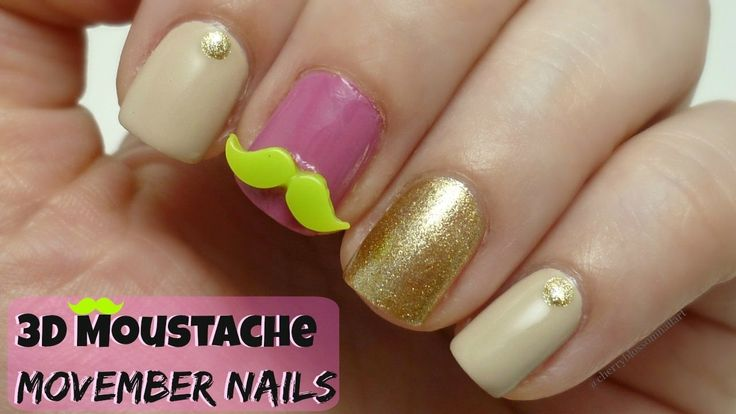 Hey guys! Happy Movember :) Here is a very cute 3D moustache design I have come up for movember theme. Since I have never done one on my channel before. Please thumbs up the video if you liked it :) #nails #nailart #nailsoftheday #nailsoffacebook #nailsoffb #notd #notw #easynailart #trendynails #nailartforbeginners #howto #diy #manicure #mani #unas #unhas #ongles #unghie #vernis #mynailcareroutine #nailcare #athome #diy #strongernails #healthiernails #longnails #nailartdesign #movember #3d
