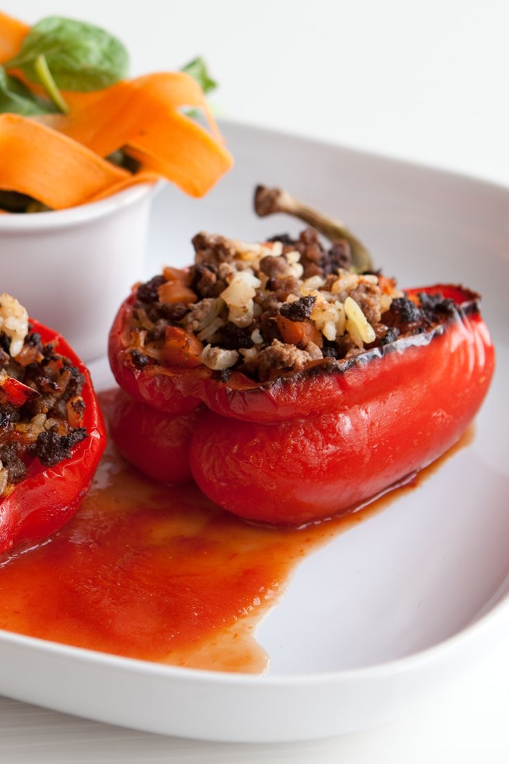 #Epicure Marinara Stuffed Peppers #glutenfree