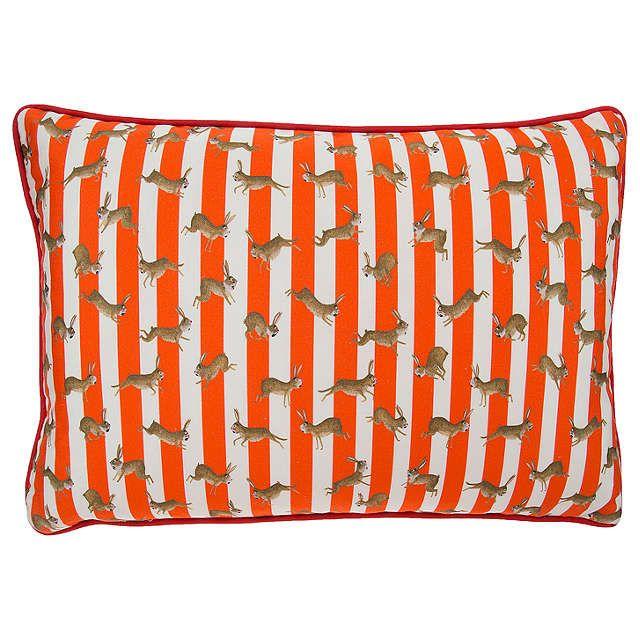 Mister Berwyn Racing Rabbit Stripe Cushion, Multi at John Lewis