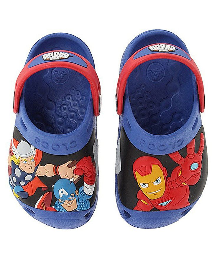 this crocs sea blue red marvel super hero squad clog kids by crocs is - Diy Entfernbarer Backsplash