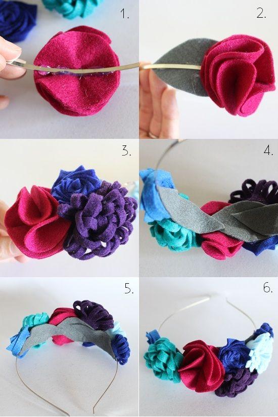 Little Old Souls: Felt Flower Crowns DIY