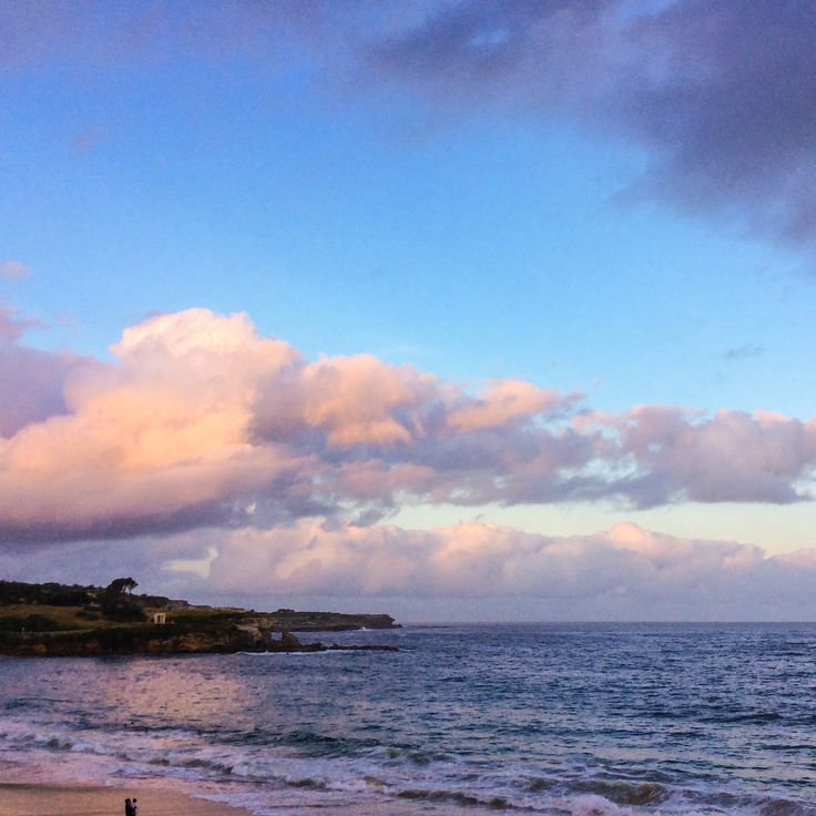 Sunset over Coogee Beach...