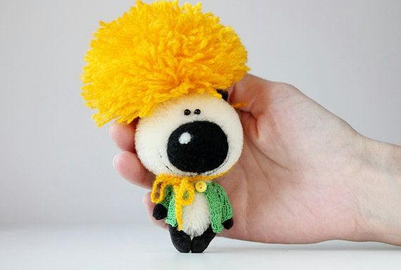 Mr. Dandelion  OOAK miniature collectible teddy by BearMyFriend