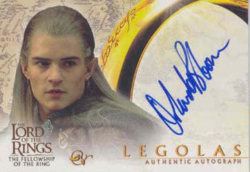 Lord of the Rings: Fellowship of the Ring Autographs Orlando Bloom