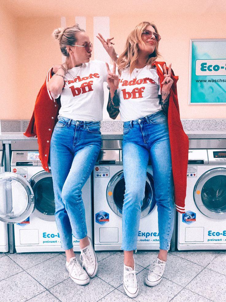 2er Set Hamburger Haenger ® Classic j'adore BFF T-Shirt – Kathi Grütgen
