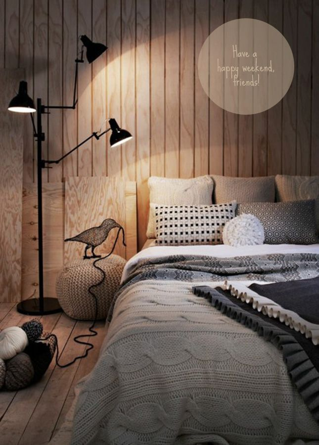 cosy bedroom - light next to the bed will be extra nice.