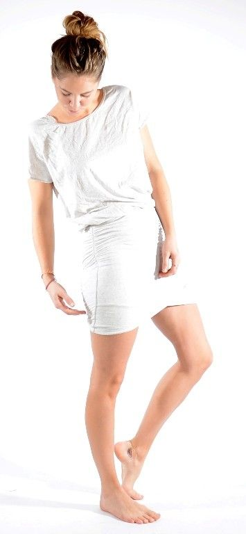 Grey Melange Jersey wrap dress http://www.corneliashus.no/ti-mo-jersey-wrap-dress-grey-melange.html