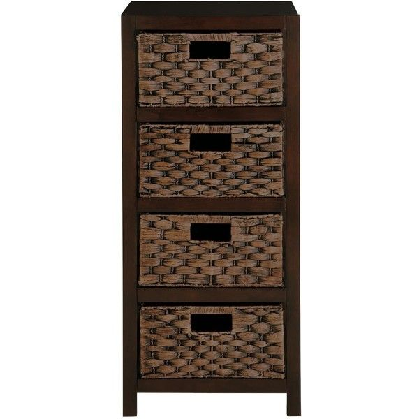 Water Hyacinth 4-Drawer Bathroom Cabinet ($63) ❤ liked on Polyvore featuring home, furniture, storage & shelves, cabinets, drawer storage unit, 4 drawer storage cabinet, drawer storage cabinet, tower and colored furniture
