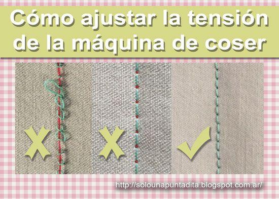 Sólo una puntadita...: Cómo ajustar la tensión de la máquina de coser