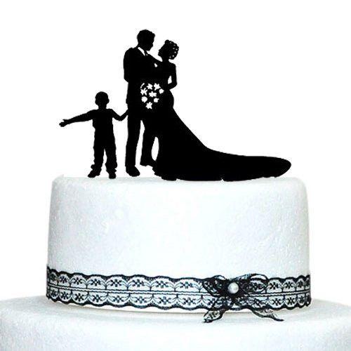 Engagement Wedding Cake Topper Family Son Boy Child Children