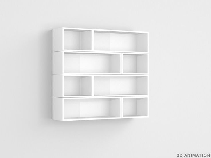 Sectional suspended CD rack CUBIT | CD rack by Cubit by Mymito