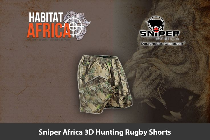 Sniper Africa 3D hunting rugby shorts is specifically designed to offer the…