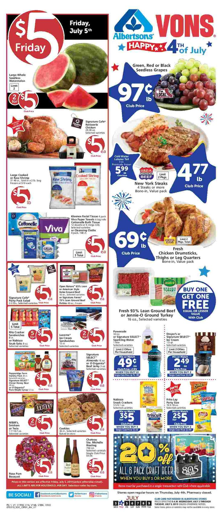 Vons Weekly Ad Flyer September 25 October 1, 2019