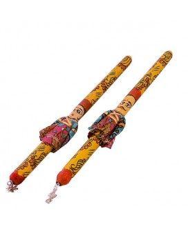 Puppet Crafted Designer Navaratri Dandiya Sticks. Shop Here -- http://trendybharat.com/Art-Crafts/Handicrafts