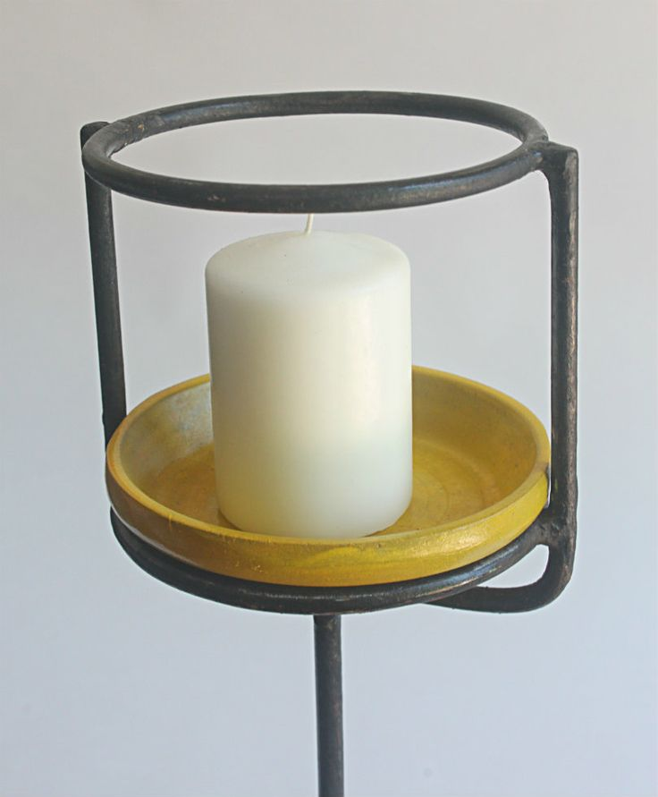 Yellow Candle Stand