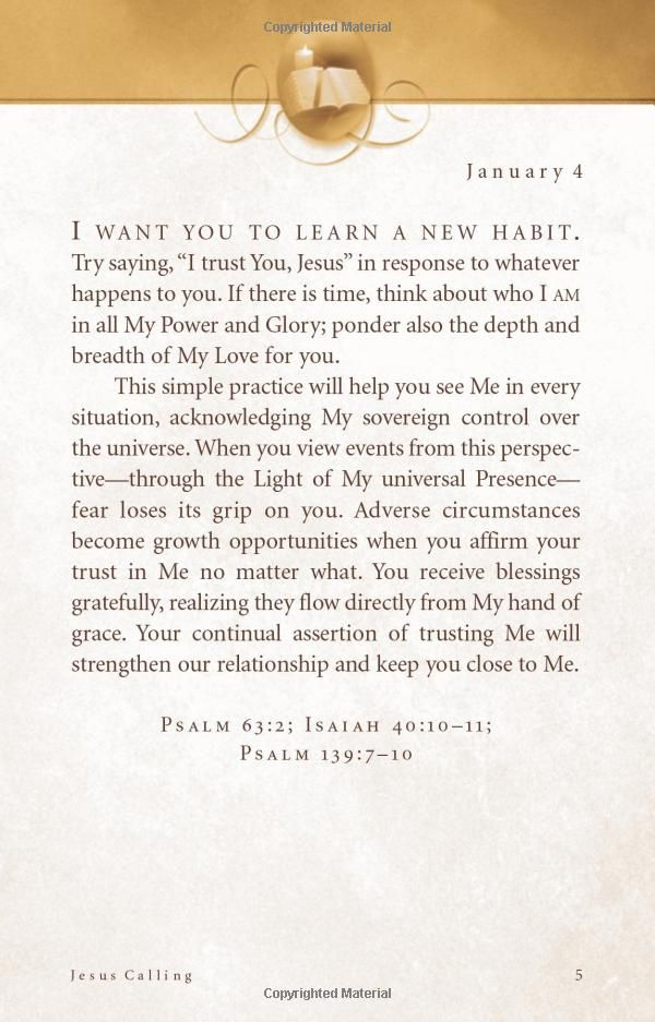 Jesus Calling: Enjoying Peace in His Presence  by Sarah Young  Best Devo EVER