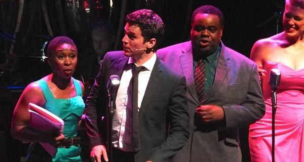 One day only on 19th May 2015 at the ROyal Festival Hall- & we saw IT- FRONT ROW- Thanks to MUM- meaning ME <3 Cynthia Erivo, Jonathan Groff, Clive Rowe and Hannah Waddingham Photo: Darren Bell