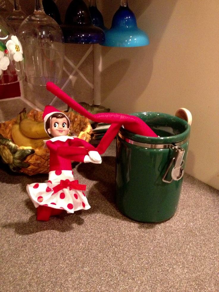diving for some sugar elf on the shelf ideas for 2 elves