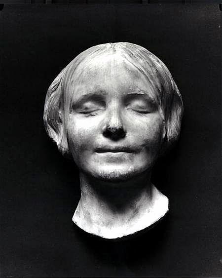 """La Belle Italienne, Drowned Mona Lisa,   l'Inconnue de la Seine, La Vierge inconnue du canal de l'Ourcq or La Belle Noyee  """"Death mask of jane doe, Seine, c. 1880"""""""