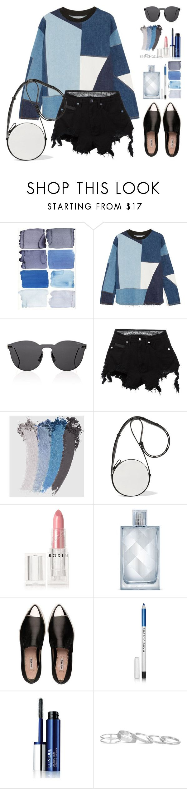 """""""Young Seoul"""" by silverheartwood ❤ liked on Polyvore featuring Victoria, Victoria Beckham, Illesteva, County Of Milan, Gucci, Diane Von Furstenberg, Rodin, Burberry, Miu Miu, Marc Jacobs and Clinique"""