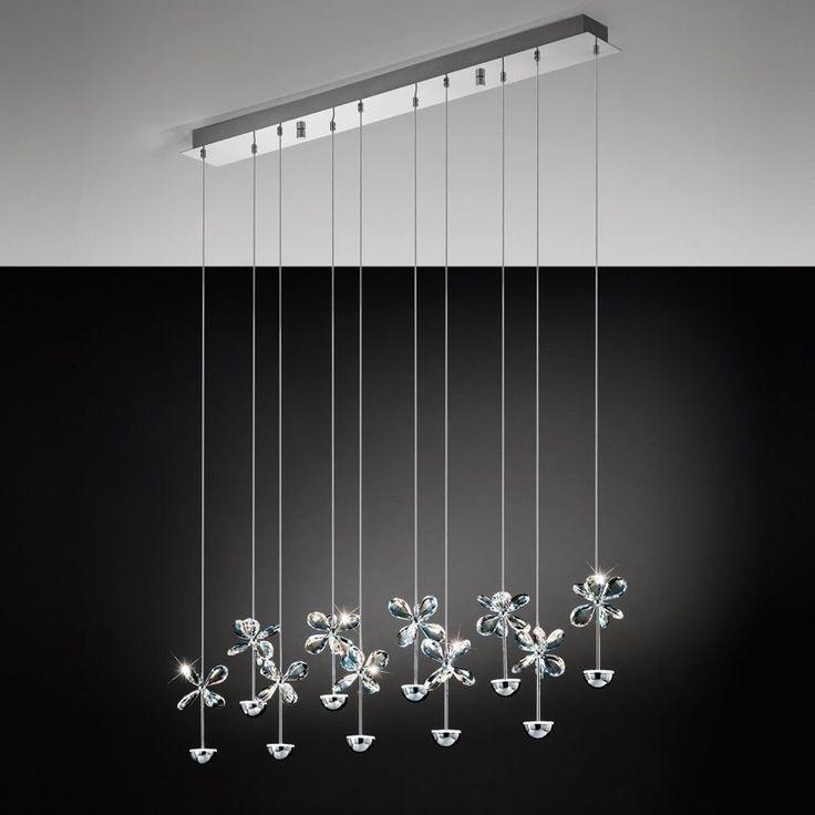 Eglo Lampa Wisząca LED Pianopoli 93663 : Lampy wiszące z kryształami : Sklep internetowy Elektromag