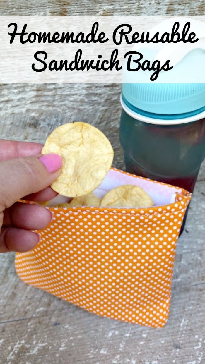 Homemade Reusable Sandwich Bags - these are simple to make and you can save money and keep bags out of the landfills! Make several in different prints!