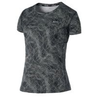 Nike Dri-FIT Miler Short Sleeve T-Shirt - Women's - Black / Silver