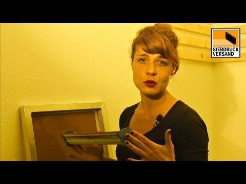 Siebdruck selber machen 4   Ein Anleitung für Einsteiger   Beschichten mit Fotoemulsion - YouTube