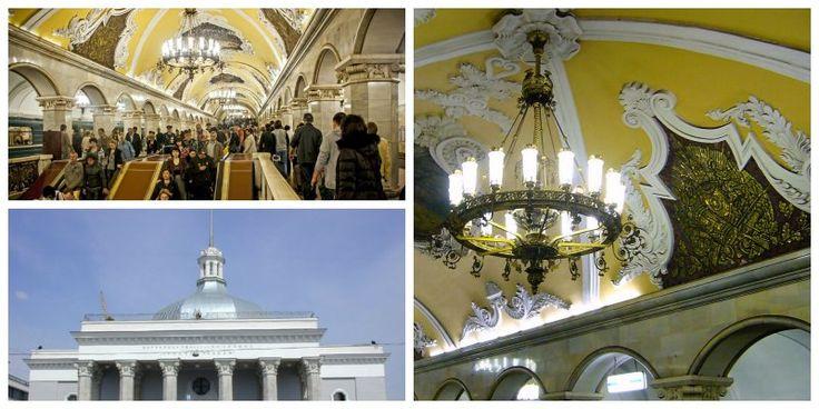 L'elegantissima fermata di Komsomolskaya a #Mosca