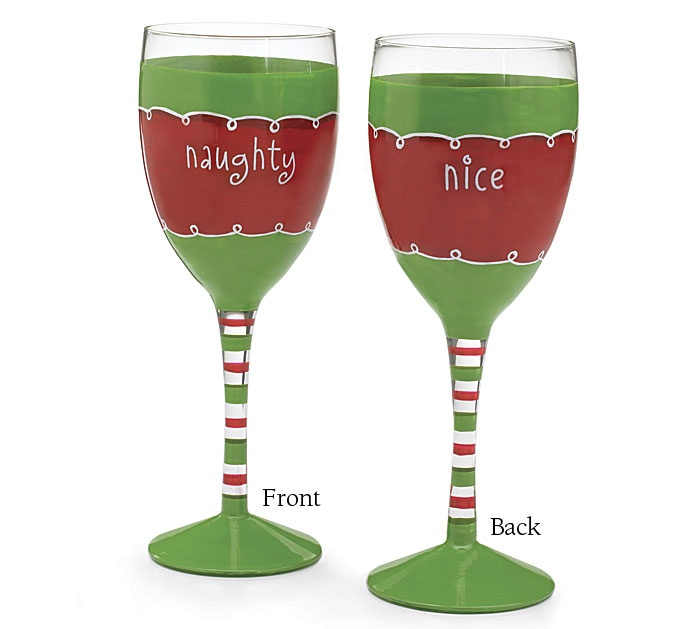 Cute christmas wine glasses possible craft fair items for Holiday wine glass crafts