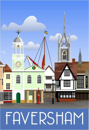 Faversham vintage travel poster