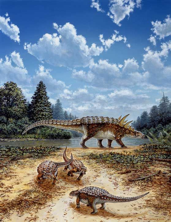 Polacanthus Deriving Its Name From The Ancient Greek For Many And Thorn Or Prickle Is An Early Armoured Spiked Plant Eating Ankylosaurian Dinosaur