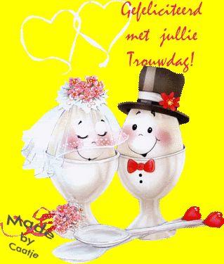 Gefeliciteerd met jullie trouwdag!