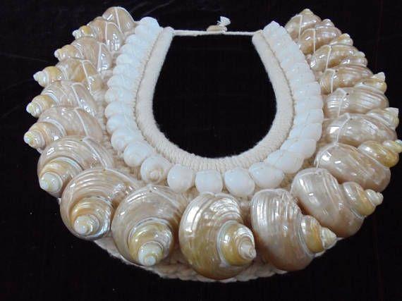 Turbo Shell Necklace Art Jewelry Papua New Guinea Women