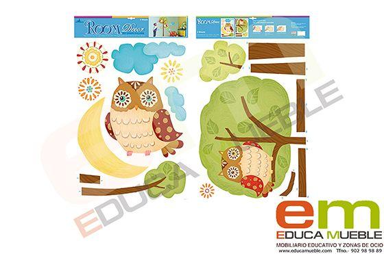 #Pegatinas infantiles decorativas animales selva, #infantil #Decoración #Dormitorio #Habitación - Tienda http://www.Educamueble.com