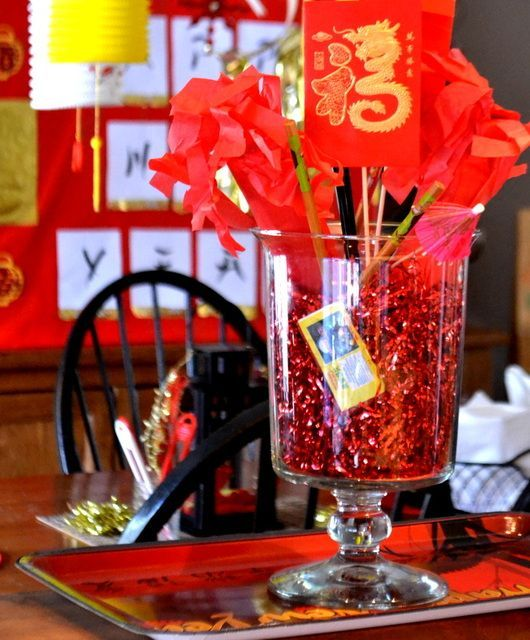 decor at a chinese new year party chinesenewyear party