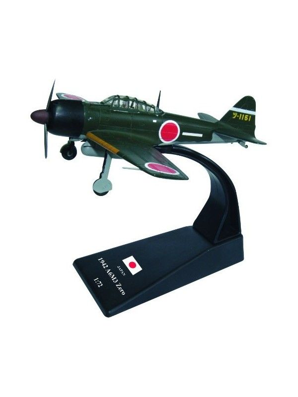 Diecast Military Model WWII Japan Mitsubishi A6M3 Zero Fighter Plane 1:72